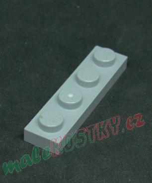Lego destička 1x4 světle šedá - light bluishgray