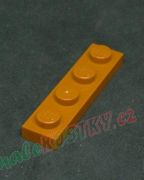 Lego destička 1x4 medium nougat