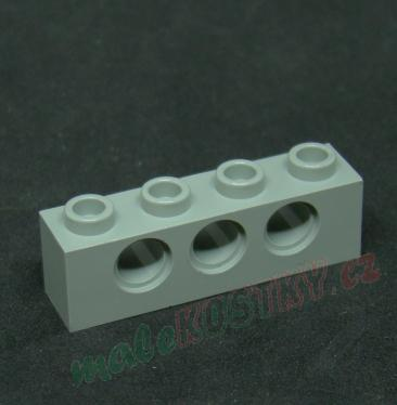 Lego kostička Technic 1x4 světle šedá - light gray